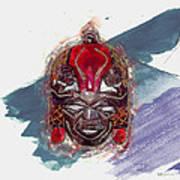 Maasai Mask - The Rain God Ngai Art Print