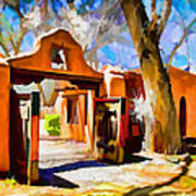 Mabel's Gate As Oil Painting Art Print