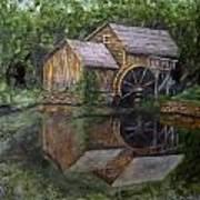 Mabry Mill Oil On Slate Art Print