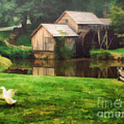 Mabrys Mill And The Welcoming Committee Art Print