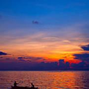 Mabul Island Sunset Borneo Malaysia Art Print
