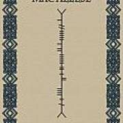 Macaleese Written In Ogham Art Print