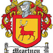 Macartney Coat Of Arms Ulster  Art Print