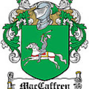 Maccaffery Coat Of Arms Irish Art Print