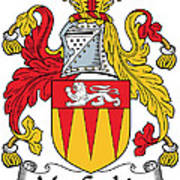 Maccashin Coat Of Arms Irish Art Print