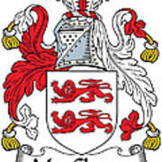 Macclancy Coat Of Arms Irish Art Print