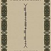 Maccormack Written In Ogham Art Print