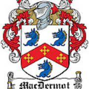 Macdermot Coat Of Arms Irish Art Print