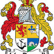 Macdonnell Coat Of Arms Of The Glens Art Print