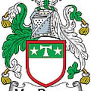 Macdrury Coat Of Arms Irish Art Print
