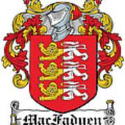 Macfadyen Coat Of Arms I Irish Art Print