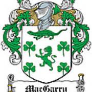 Macgarry Coat Of Arms Irish Art Print