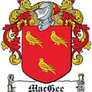 Macgee Coat Of Arms I Irish Art Print