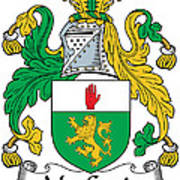 Macgenis Coat Of Arms Irish Art Print