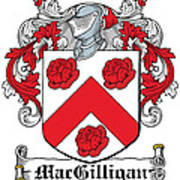 Macgilligan Coat Of Arms Irish Art Print