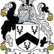 Macgirr Coat Of Arms Irish Art Print