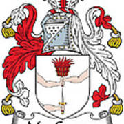 Macgowan Coat Of Arms Irish Art Print