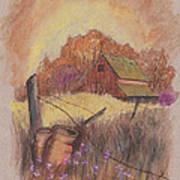 Macgregors Barn Pstl Art Print by Carol Wisniewski