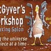 Macgyvers Workshop Art Print