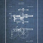 Machine Gun - Automatic Cannon By C.e. Barnes - Vintage Patent Blueprint Art Print