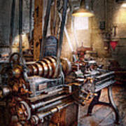 Machinist - Fire Department Lathe Art Print by Mike Savad