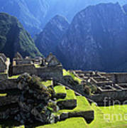 Machu Picchu And Urubamba Canyon Art Print