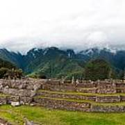 Machu Picchu Main Square And The Group Of The Three Doorways Art Print