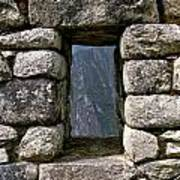 Machu Picchu Window Art Print