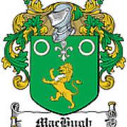 Machugh Coat Of Arms Irish Art Print
