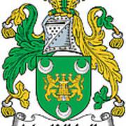 Mackillikelly Coat Of Arms Irish Art Print