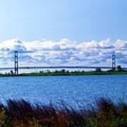 Mackinac Bridge Landscaped Art Print