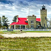 Mackinac Point Lighthouse Michigan Art Print
