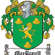 Macranell Coat Of Arms Leitrim Ireland Art Print