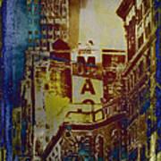 Macys Three - Neo-grundge - Famous Buildings And Landmarks Of New York City Art Print