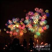 Macy's July 4th Fireworks New York City  Art Print