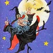 Mad Millie Moon Dance Art Print by Richard De Wolfe