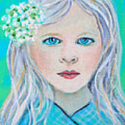 Madelyn Little Angel Of Clear Vision Art Print