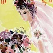 Mademoiselle Cover Featuring A Bride Art Print