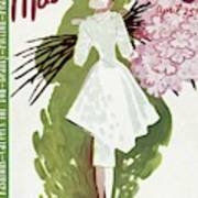 Mademoiselle Cover Featuring A Woman Carrying Art Print