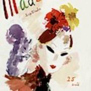 Mademoiselle Cover Featuring A Woman Art Print