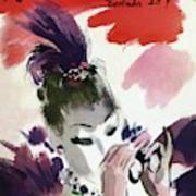 Mademoiselle Cover Featuring A Woman Looking Art Print