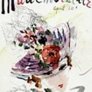 Mademoiselle Cover Featuring An Illustration Art Print