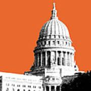 Madison Capital Building - Coral Art Print