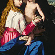 Madonna And Child Art Print by Alessandro Allori