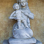 Madonna And Child Carmel Mission Monterey California Art Print