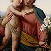 Madonna And Child Print by Franz Ittenbach