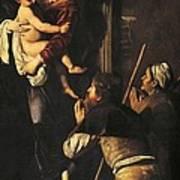 Madonna Dei Pellegrini Or Madonna Of Loreto Art Print by Michelangelo Merisi da Caravaggio