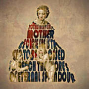 Madonna Typography Artwork Art Print