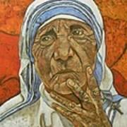 Madre Teresa Di Calcutta Art Print