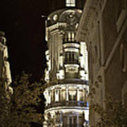 Madrid At Night Art Print
